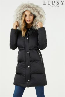 Lipsy Faux Down Duvet Puffer Coat