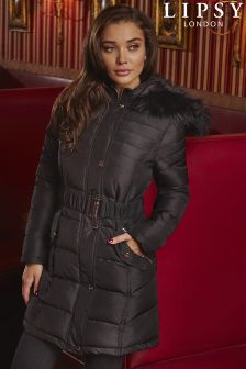 Lipsy Long Belted Quilted Jacket
