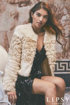 Lipsy Short Faux Fur Coat