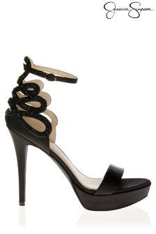 Jessica Simpson Crystal Satin Heels