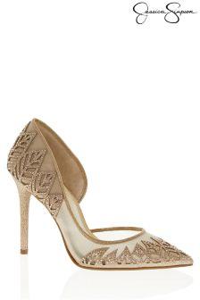 Jessica Simpson Glitter Court Heels