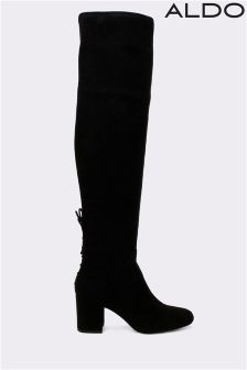Aldo Over The Knee Block Heel Boots