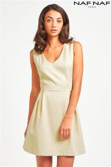 Naf Naf Jacquard Skater Dress