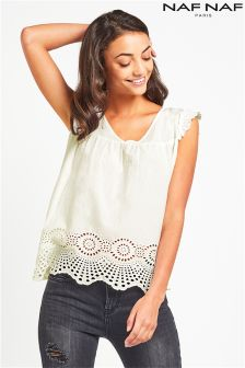 Naf Naf Lace Trim Blouse