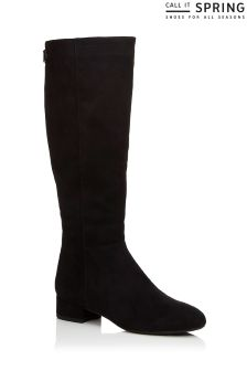 Call It Spring Ladies Knee High Low Heel Mod Boots