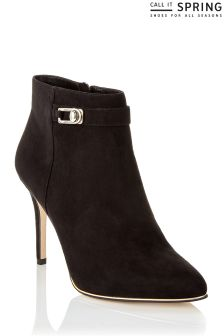 Call It Spring Ladies Ankle Bootie With Metal Detail