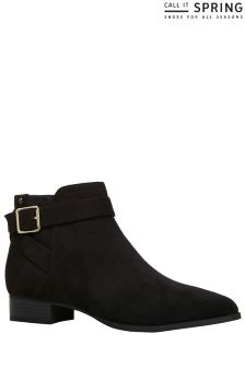 Call It Spring Ladies Ankle Boots With Side Zip