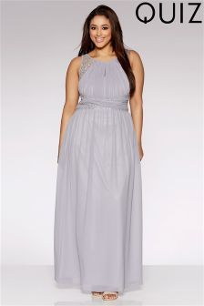 Quiz Plus Embellished Waist Maxi Dress