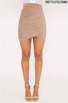 PrettyLittleThing Sabina Ruched Layered Mini Skirt