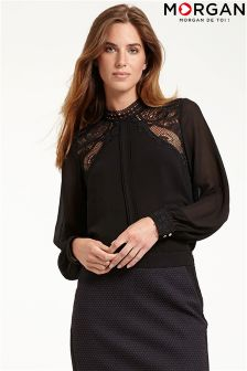 Morgan Lace Insert Blouse