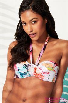 Butterfly By Matthew Williamson Oriental Cross Neck Underwire Bikini Top