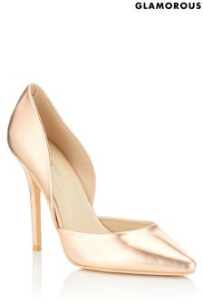 Glamorous Metallic Court Shoes