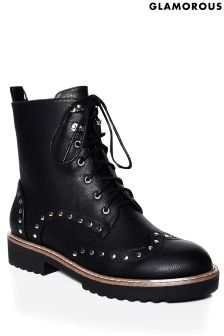 Glamorous Studded Hiker Boots