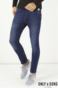 Only & Sons Warp Dark Wash Skinny Jean