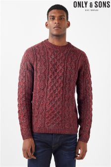 Only & Sons Cable Knit Jumper