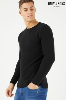Only & Sons Structured Crew Neck Jumper