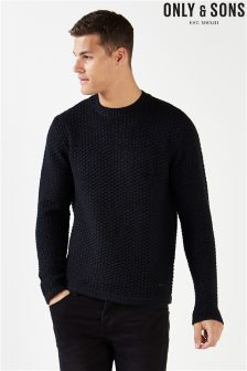 Only & Sons Waffle Crew Neck Jumper