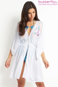 Butterfly By Matthew Williamson Embroidered Kaftan