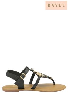 Ravel Embellished Toe Post Sandals