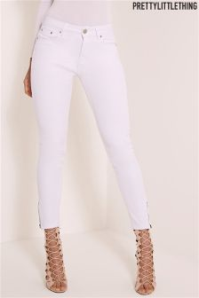 PrettyLittleThing High Waisted Ankle Grazer Skinny Jeans