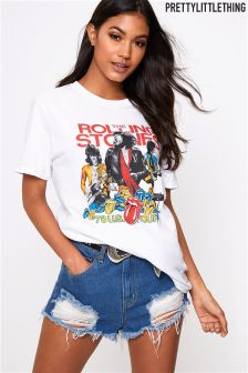 PrettyLittleThing Rolling Stones Band T-Shirt