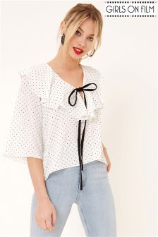 Girls On Film Ruffle Blouse