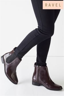 Ravel Leather Chelsea Ankle Boots