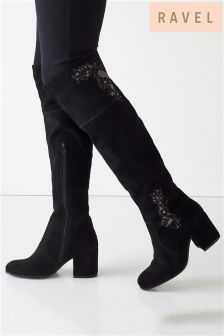 Ravel Over The Knee Block Heel Boots