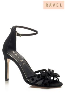 Ravel Mesh Detailed Heeled Sandals