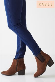 Ravel Low Heel Ankle Boots