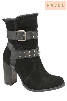 Ravel Block Heel Ankle Boots