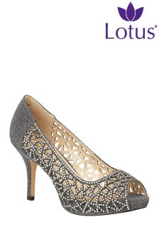 Lotus Peep Toe Stiletto Courts