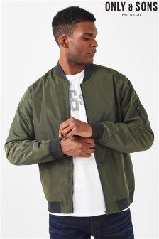 Only & Sons Green Bomber Jacket