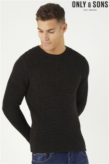 Only & Sons Grey Crew Neck Jumper