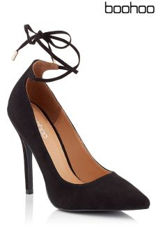 Boohoo Ankle Tie Court Stilettos