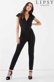 Lipsy Cap Sleeve Wrap D Ring Jumpsuit