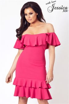 Jessica Wright Bardot Frill Top Dress