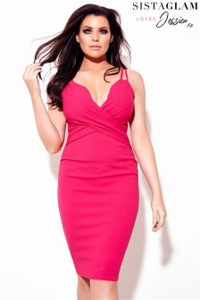 Jessica Wright Multi Strap Rouched Cami Dress