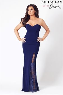 Jessica Wright Lace Bandeau Maxi Dress