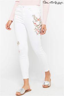 Miss Selfridge Embroidered Skinny Jeans