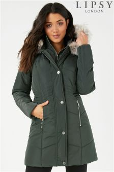 Lipsy Double Collar Quilted Puffer