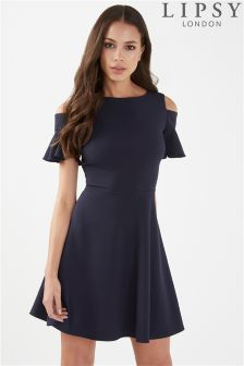 Lipsy Cold Shoulder Skater Dress