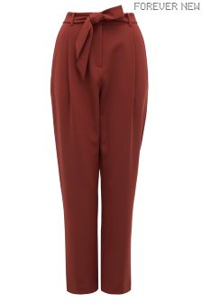 Forever New Sienna Belted Peg Trousers