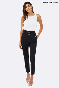 Forever New Talia Tapered Paper Bag Trousers