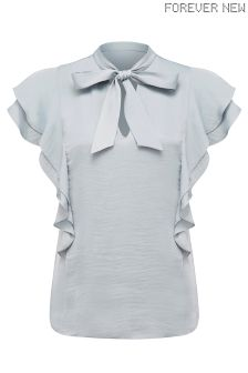 Forever New Sleeveless Pussy Bow Blouse