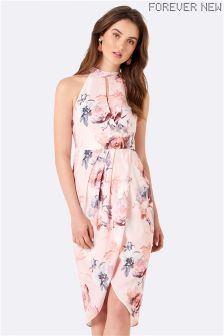 Forever New Wrap Front Print Dress