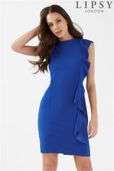 Lipsy Ruffle Front Bodycon Dress