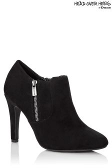 Head Over Heels Side Zip Ankle Boots
