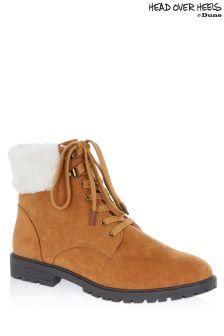 Head Over Heels Faux Fur Cuff Hiker Boots