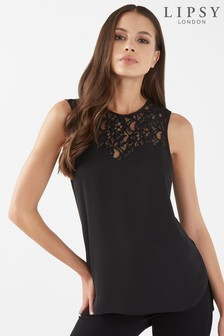 Lipsy Lace Hem Sleeveless Top